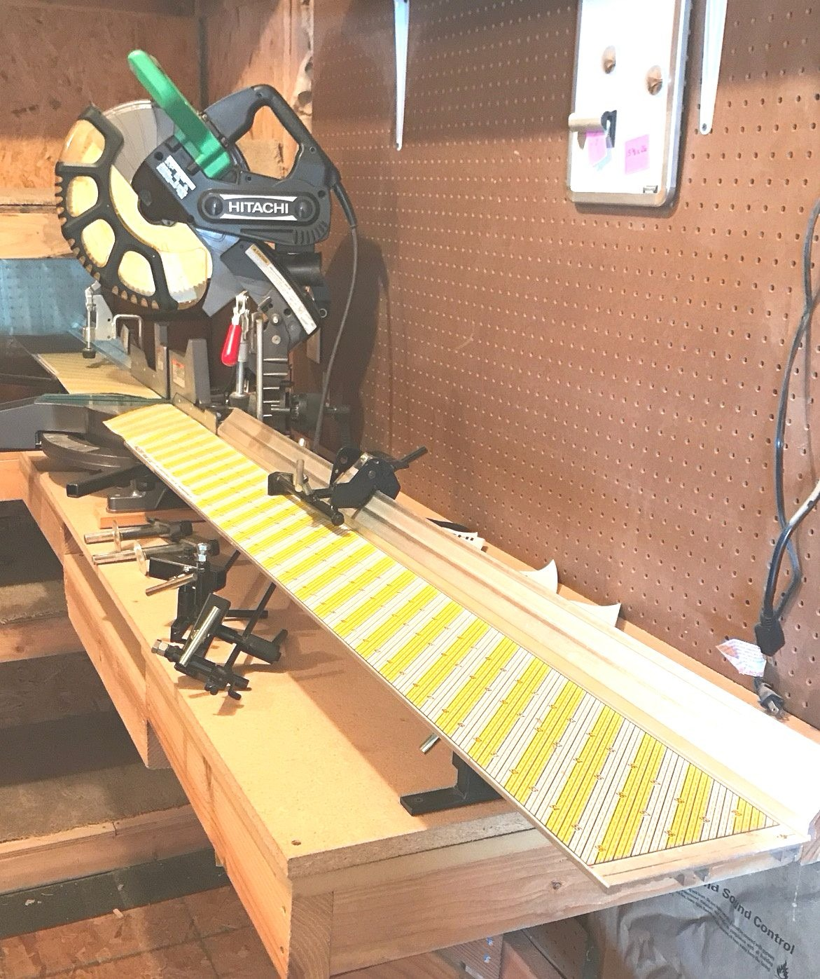 Used 7' Aluminum Measuring Guide for Mitre Miter Saw System